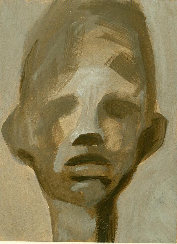 Dono d'arte postale ritratto di un uomo